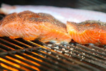 Salmon on barbecue